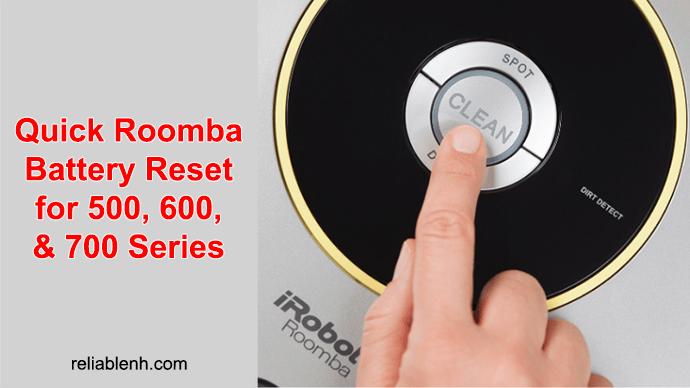 roomba reset battery